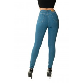 Super modeling push-up jeans in light denim