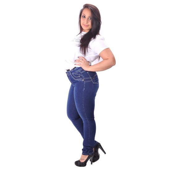 Jeans push-up brazilian high waistband
