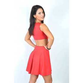 Red dress bare back