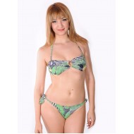 Brazilian bikini tropical band slip with laces