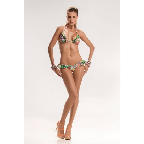 Brazilian bikini padded triangle and voile
