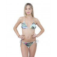 Brazilian bikini with triangle bra fru fru
