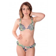 Brazilian bikini with voile and molded cups