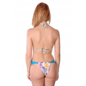 Brazilian bikini with voile and adjustable slip