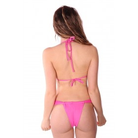 Brazilian bikini fuchsia with fringes