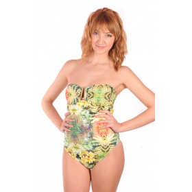 Swimsuit tropical cut bustierp