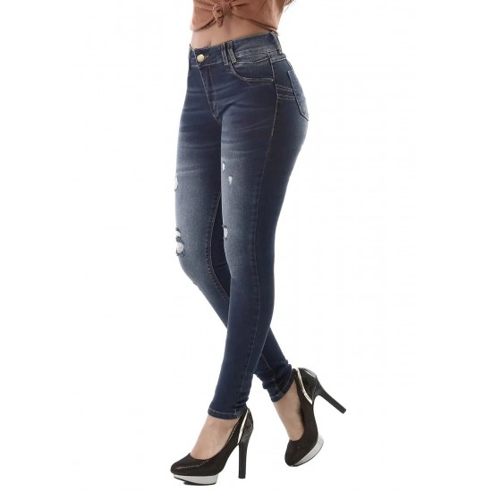 Sawary Brazilian casual push-up jeans with rips