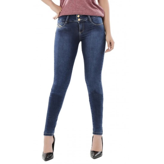 Super push-up  jeans with removable internal modeler